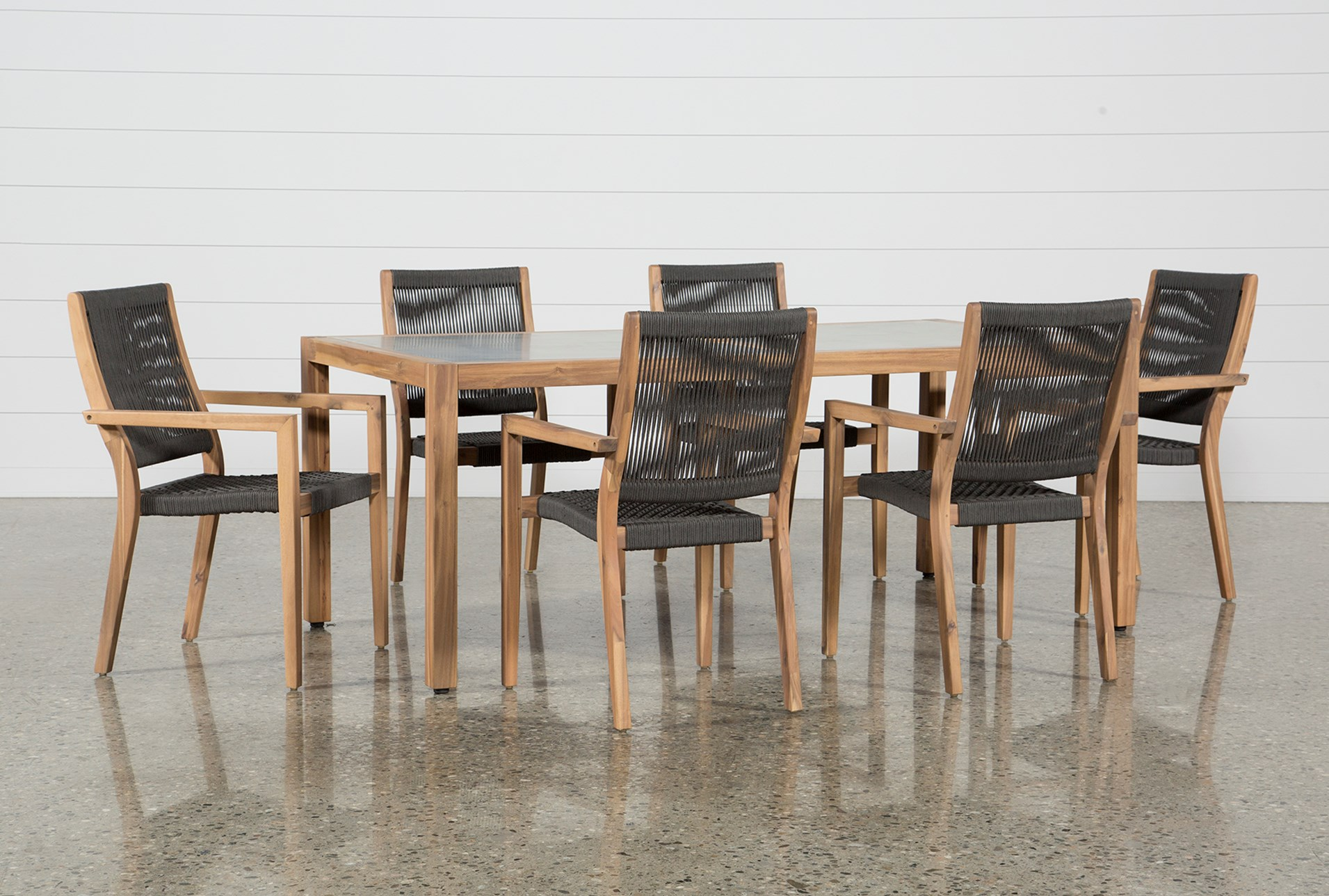 Outdoor Sienna Dining Table With 6 Arm Chairs Qty 1 Has Been Successfully Added To Your Cart
