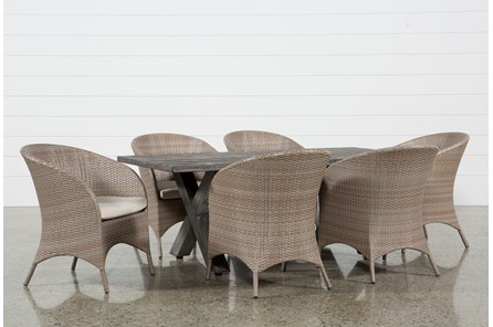 Outdoor Tortuga Dining Table With Ibiza Dining Chairs - Main
