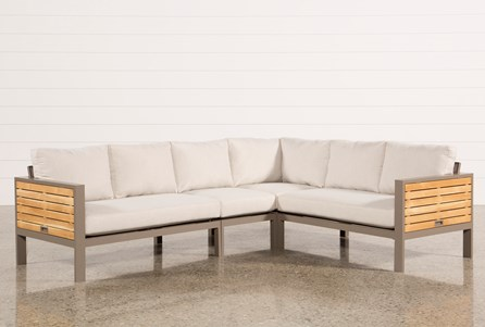 Outdoor Brasilia Teak 4 Piece Sectional