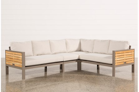Outdoor Brasilia Teak 4 Piece Sectional - Main