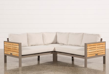Outdoor Brasilia Teak 3 Piece Sectional
