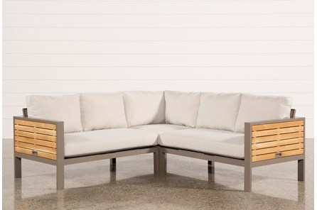 Outdoor Brasilia Teak 3 Piece Sectional - Main