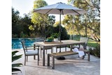 Outdoor Brasilia Teak Dining Table With 4 Chairs And 1 Bench - Room