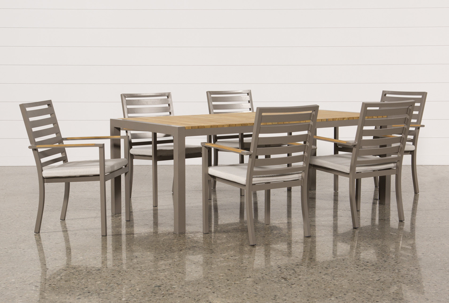Outdoor Brasilia Teak Dining Table With 6 Chairs   360