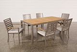 Outdoor Brasilia Teak Dining Table With 6 Chairs - Top