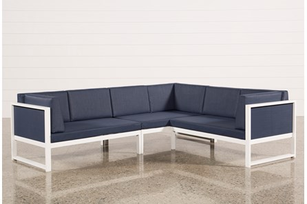 Outdoor Biscayne II 3 Piece Right Facing Sectional - Main