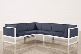 Outdoor Biscayne II 3 Piece Left Facing Sectional