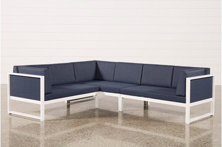 Outdoor Biscayne II 3 Piece Left Facing Sectional - Main