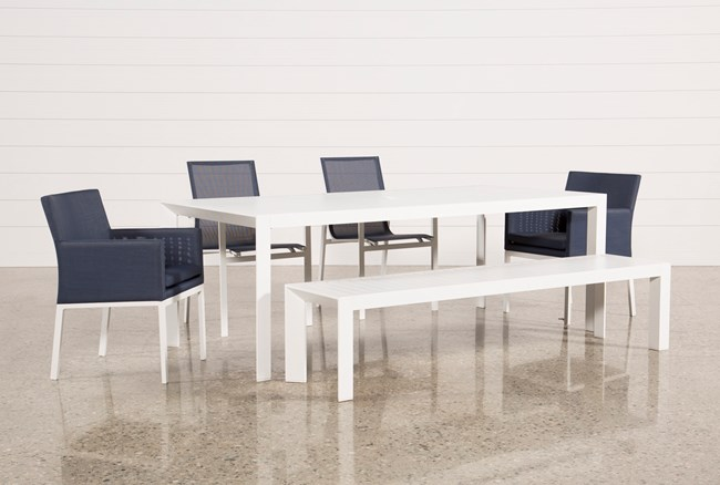 Outdoor Biscayne II Dining Table With 2 Uph