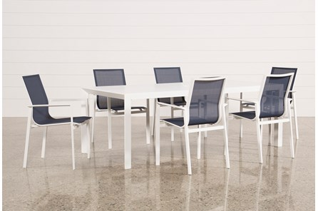 Outdoor Biscayne II Dining Table With 6 Chairs - Main
