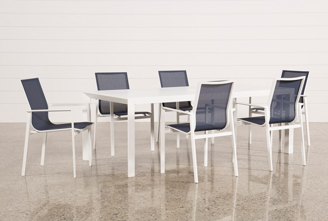 Outdoor Biscayne II Dining Table With 6 Chairs - 360
