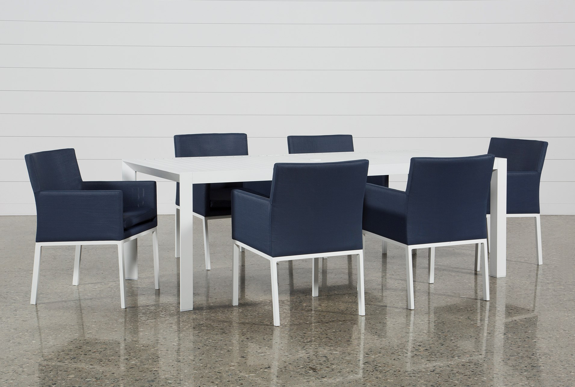 Outdoor Biscayne II Dining Table With 6 Upholstered Chairs Qty 1 Has Been Successfully Added To Your Cart