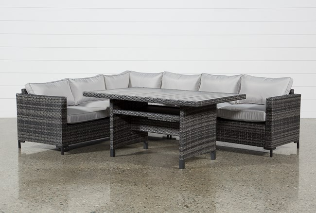 Outdoor Domingo Banquette Lounge - 360