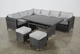 Outdoor Domingo Banquette Lounge With 2 Ottomans - Top