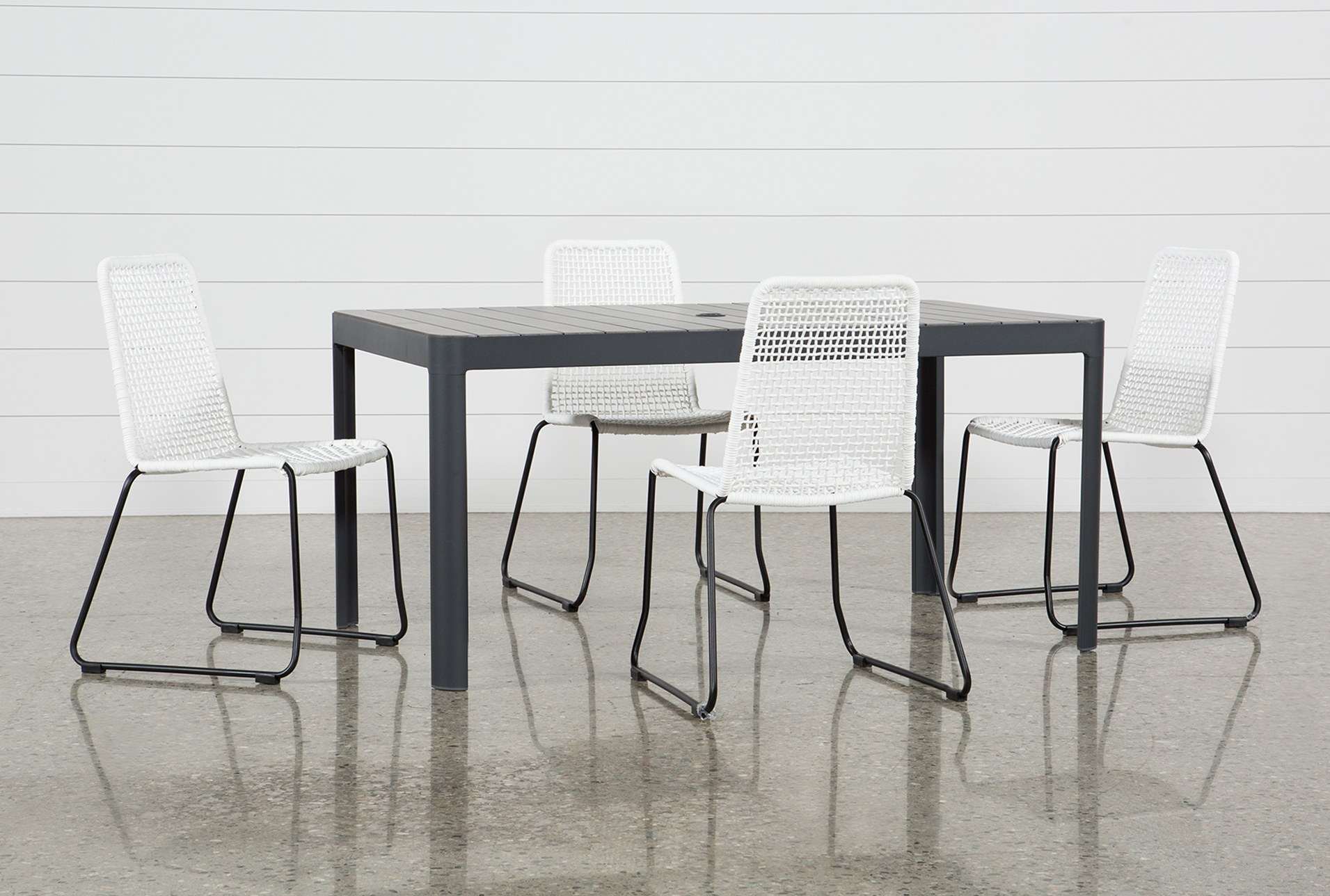 Outdoor Andaz Dining Table With 4 Pilo White Side Chairs (Qty: 1) Has Been  Successfully Added To Your Cart.