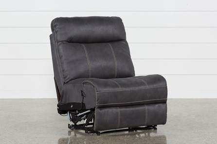 Denali Charcoal Grey Armless Recliner