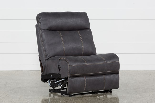 Denali Charcoal Grey Armless Recliner - 360