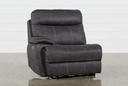 Denali Charcoal Grey Left Facing Power Recliner W/Power Headrest & Usb
