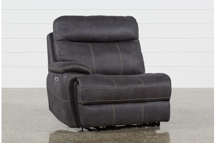 Denali Charcoal Grey Laf Power Recliner W/Power Headrest & Usb