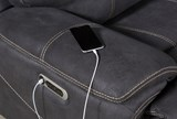 Denali Charcoal Grey 6 Piece Reclining Sectional W/2 Power Headrests - Feature