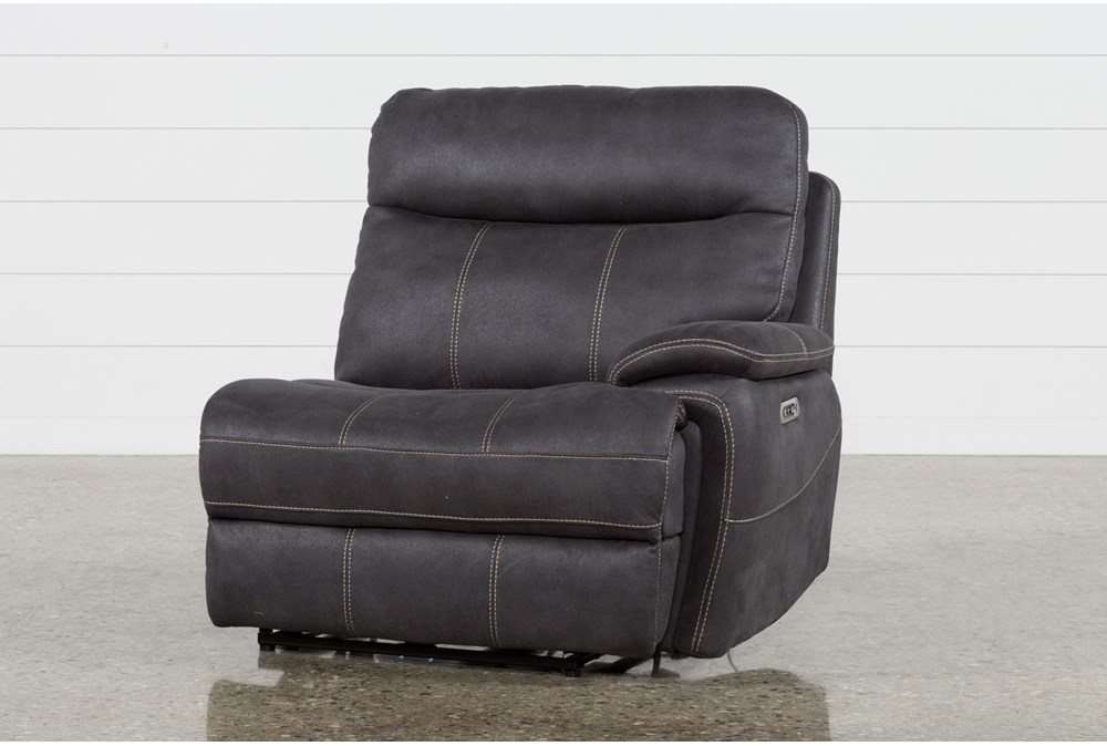 Denali Charcoal Grey Raf Power Recliner W/Power Headrest & Usb
