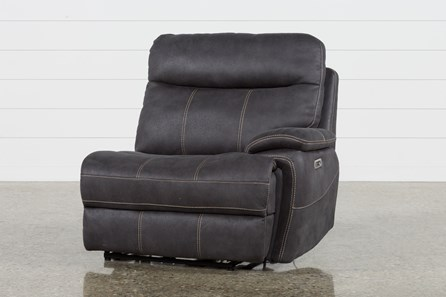 Denali Charcoal Grey Right Facing Power Recliner W/Power Headrest & Usb