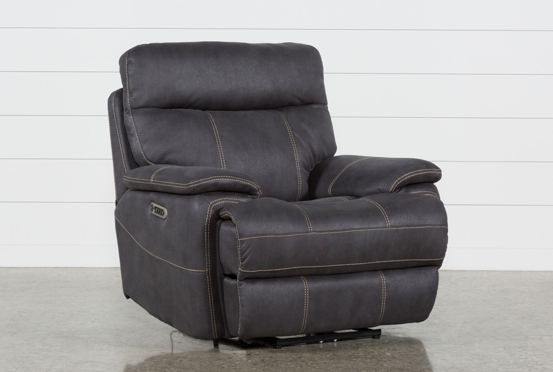 Denali Charcoal Grey Recliner W Headrest Usb Qty 1 Has Been Successfully Added To Your Cart