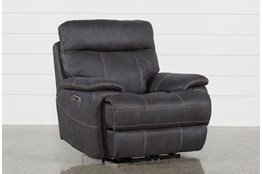 Denali Charcoal Grey Power Recliner W/Power Headrest & Usb