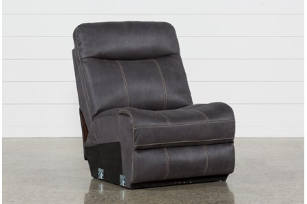Denali Charcoal Grey Armless Chair - Main