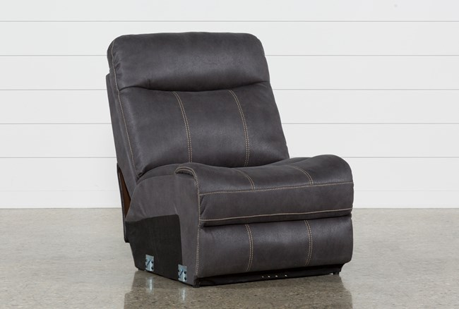 Denali Charcoal Grey Armless Chair - 360