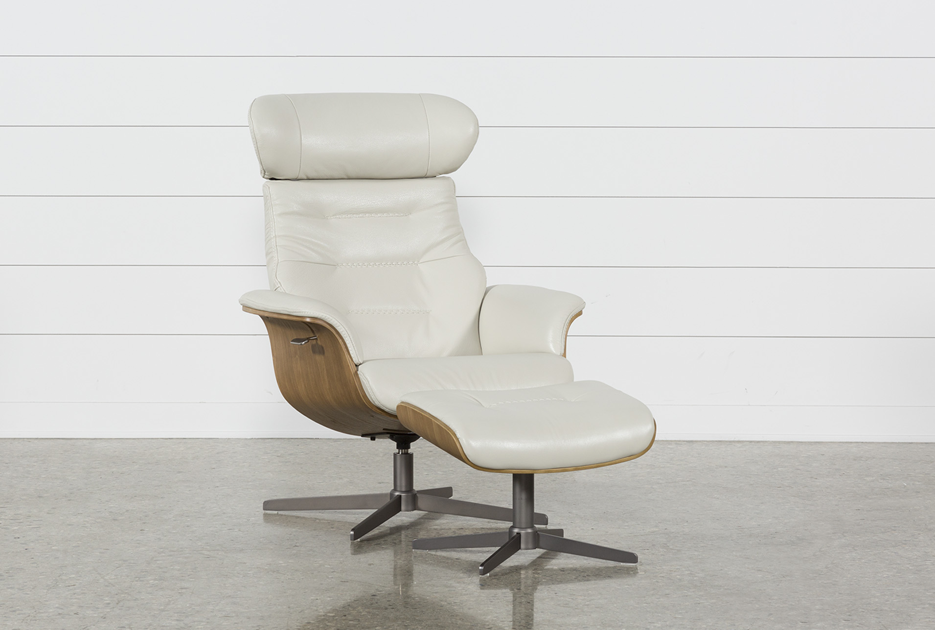Charmant Amala Bone Leather Chair U0026amp; Ottoman (Qty: 1) Has Been Successfully Added  To Your Cart.