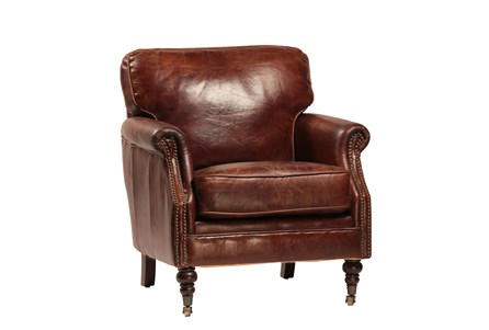 Cowhide Leather Accent Chair
