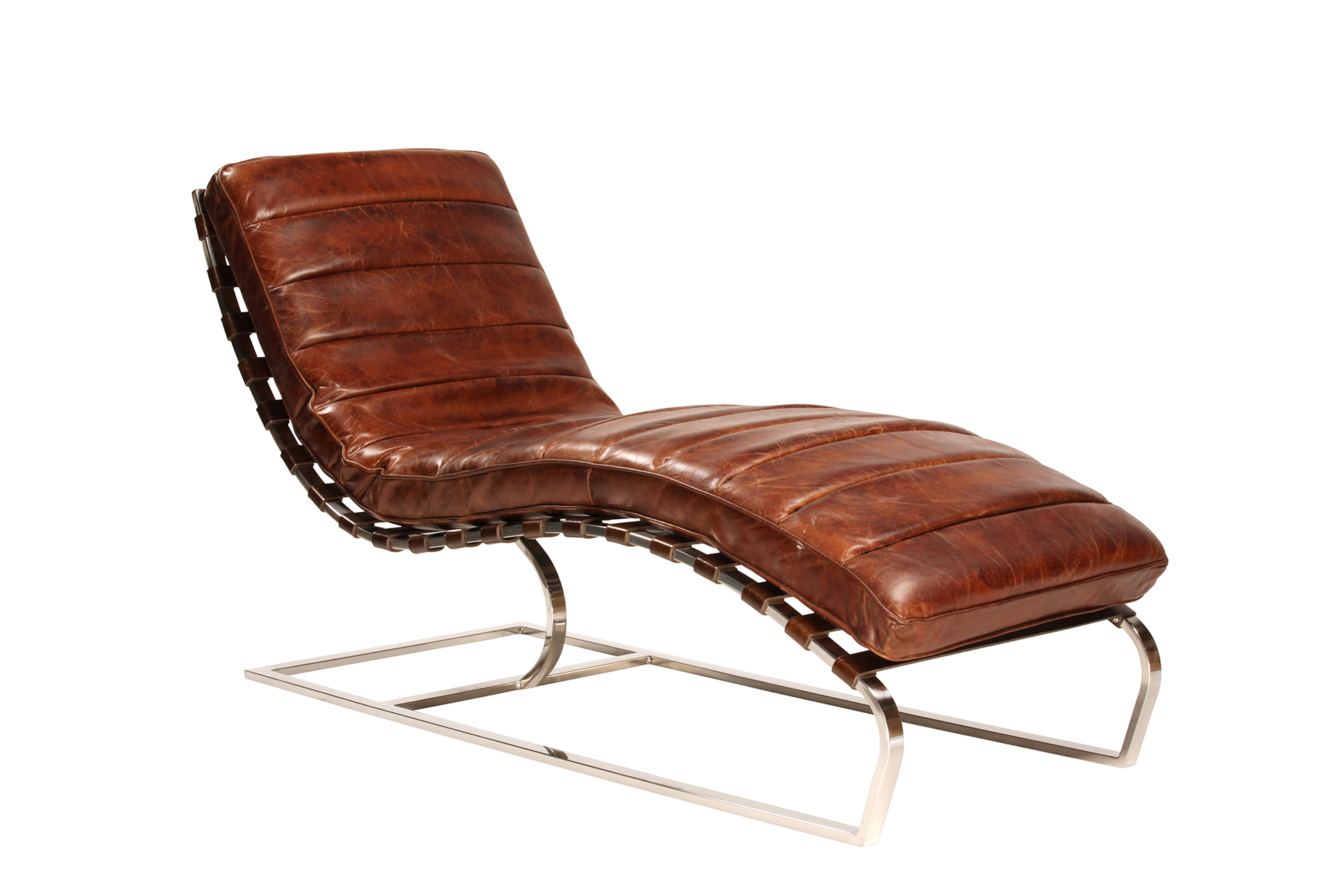 Cowhide Leather Chaise (Qty: 1) Has Been Successfully Added To Your Cart.
