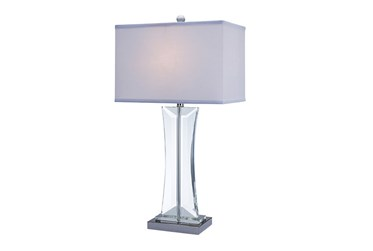 Table Lamp-Curved Crystal Clear