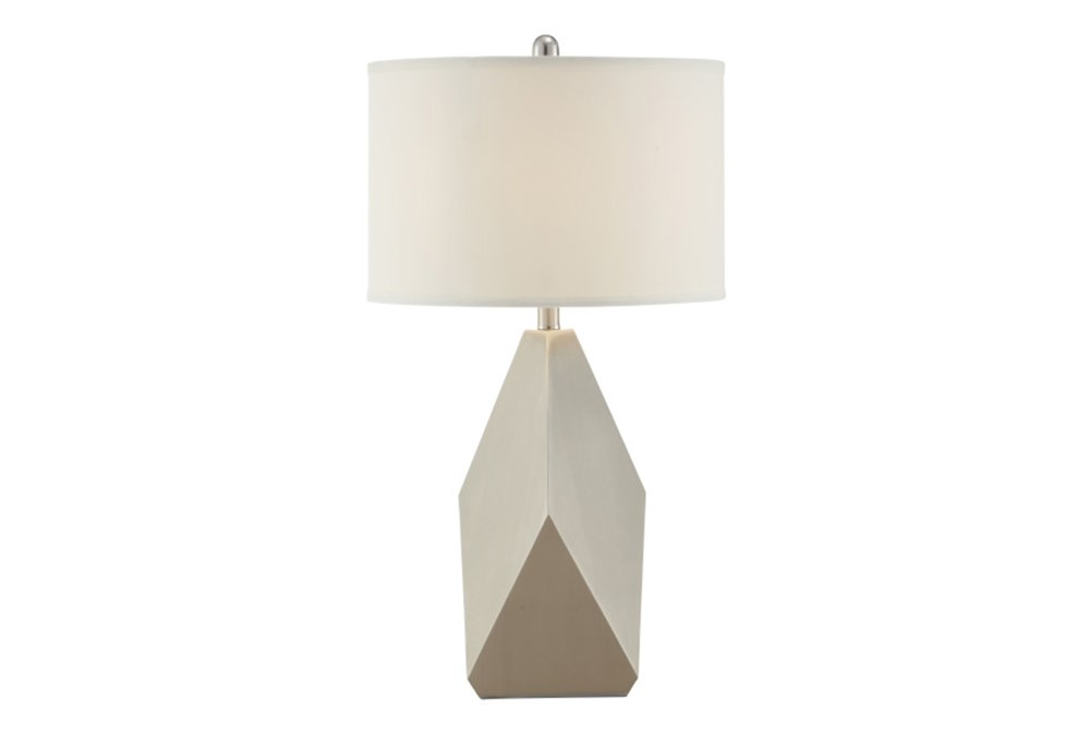 Table Lamp-Geo Shape With Ivory Shade