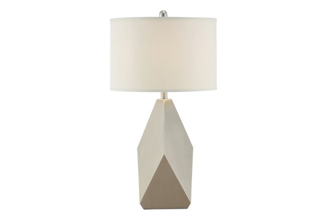 Table Lamp-Geo Shape With Ivory Shade - 360
