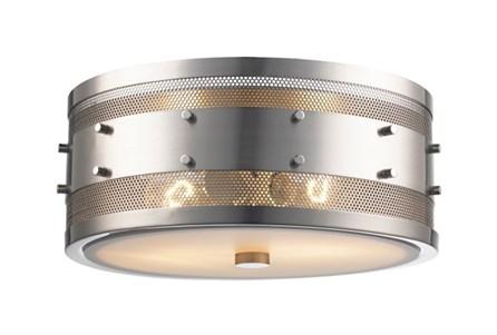 Flushmount-Round Mesh Silver