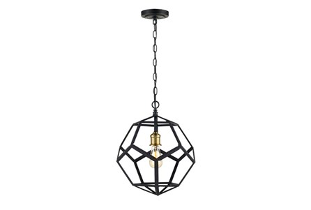 Pendant-Lenci Black And Bronze