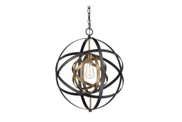 Pendant-Aura Black And Bronze