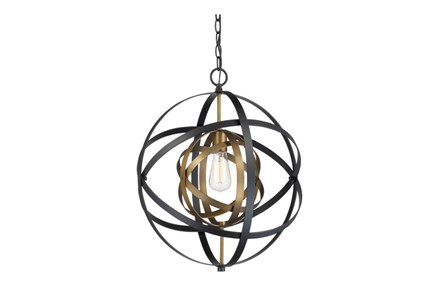 Pendant-Aura Black And Bronze - Main