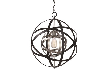Pendant-Aura Black And Nickel
