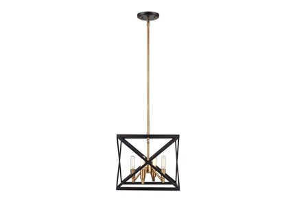 Pendant-Abner Black And Bronze - Main