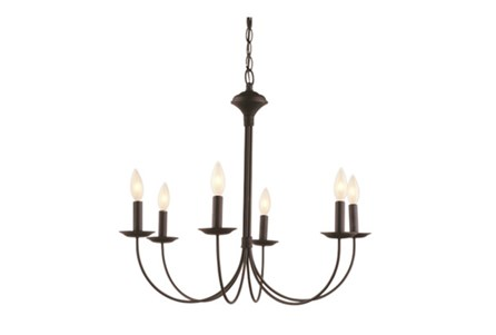 Chandelier-Candice Black 6 Light