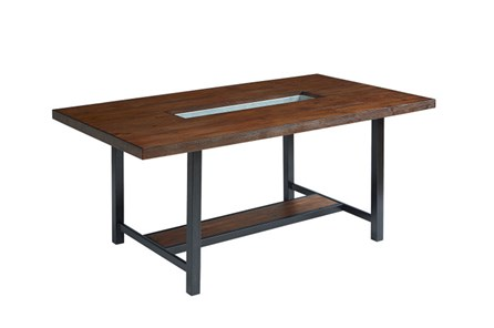Magnolia Home Framework 84 Inch Dining Table With Zinc Planter By Joanna Gaines - Main