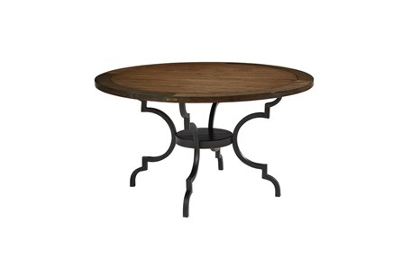 Magnolia Home Breakfast Round Black Dining Table By Joanna Gaines - Main