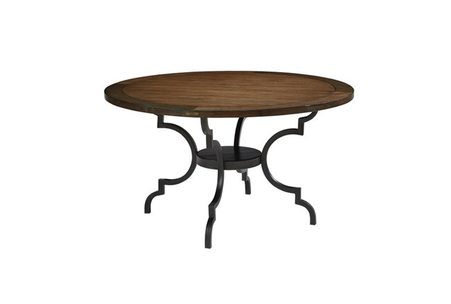 Magnolia Home Breakfast Round Black Dining Table By Joanna Gaines - 360
