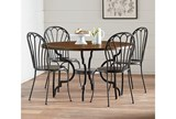 Magnolia Home Breakfast Round Black Dining Table By Joanna Gaines - Room