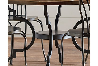Remarkable Magnolia Home Breakfast Round Black Dining Table By Joanna Gaines Unemploymentrelief Wooden Chair Designs For Living Room Unemploymentrelieforg