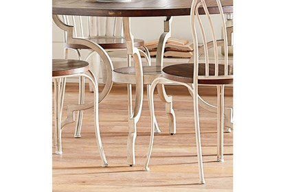 Magnolia Home Breakfast Round Antique White Dining Table By Joanna Gaines