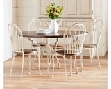 Magnolia Home Breakfast Round Antique White Dining Table By Joanna Gaines - Room